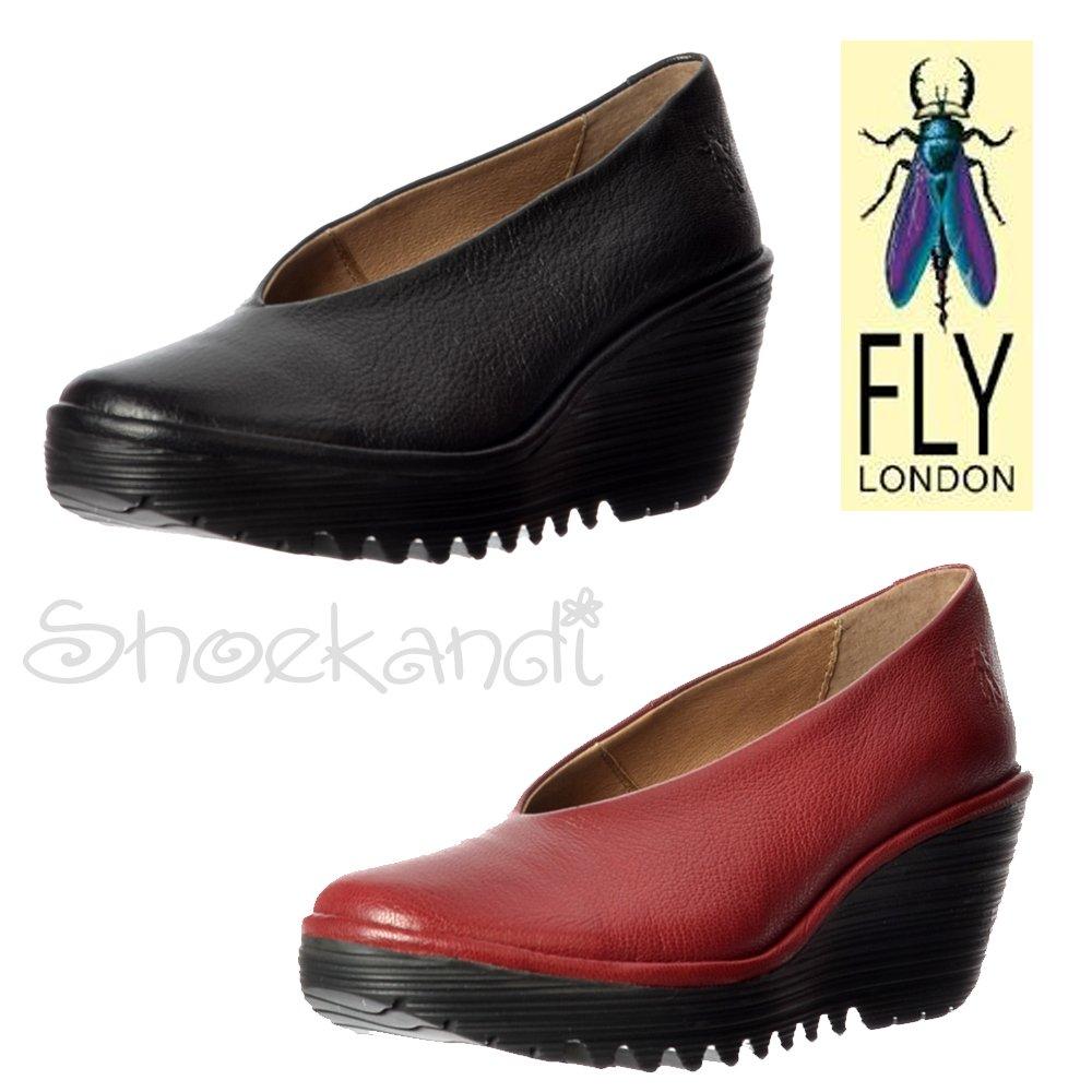 damen fly london yaz keil b ro schule pumps niedriger absatz verschiedene farben ebay. Black Bedroom Furniture Sets. Home Design Ideas