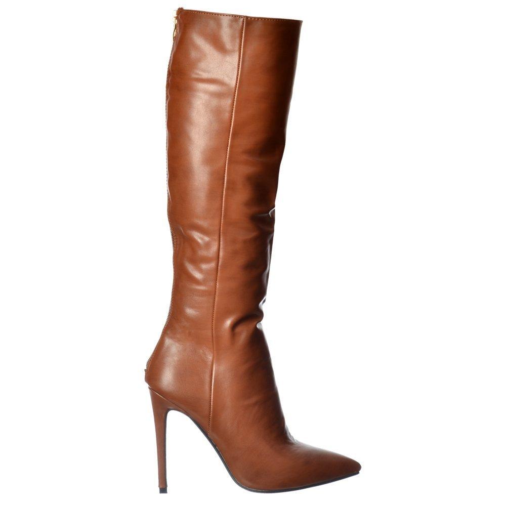 High sexy boot heels black knee