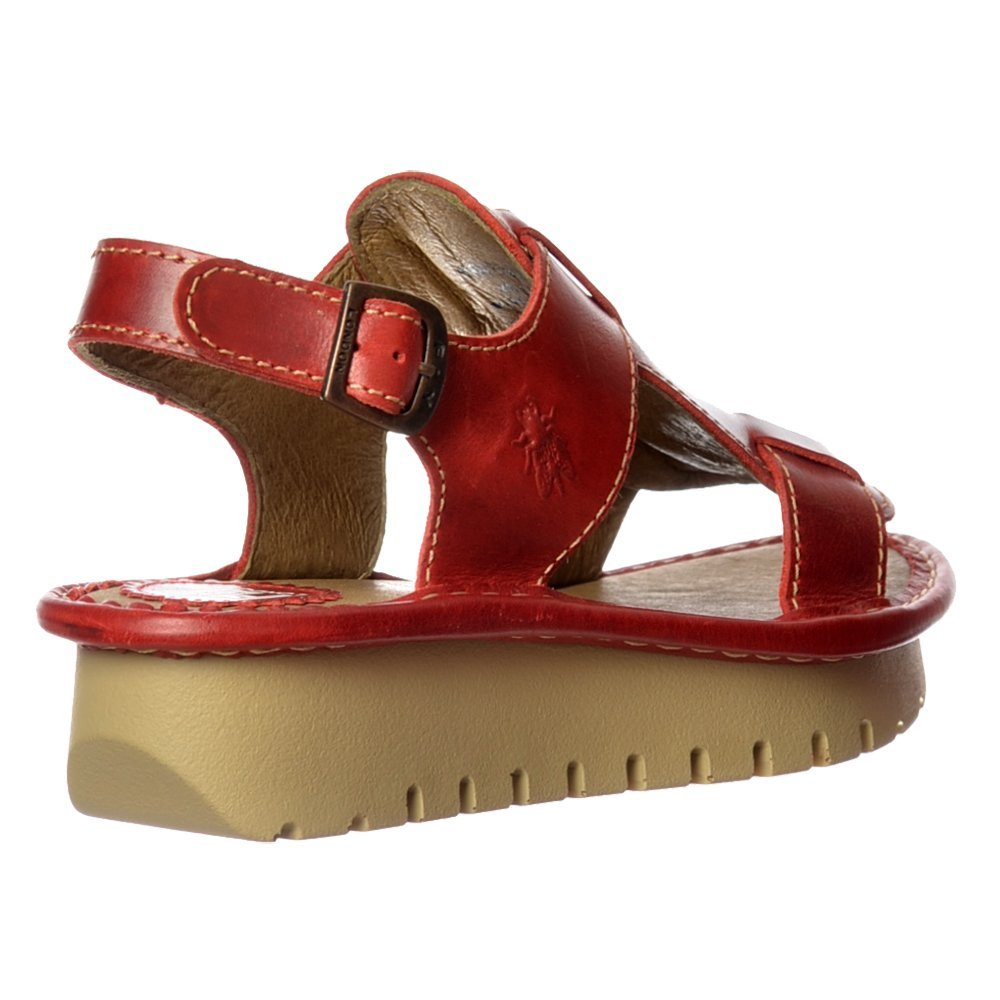 Womens Fly London Kani Leather Wedge Open Toe Sandal