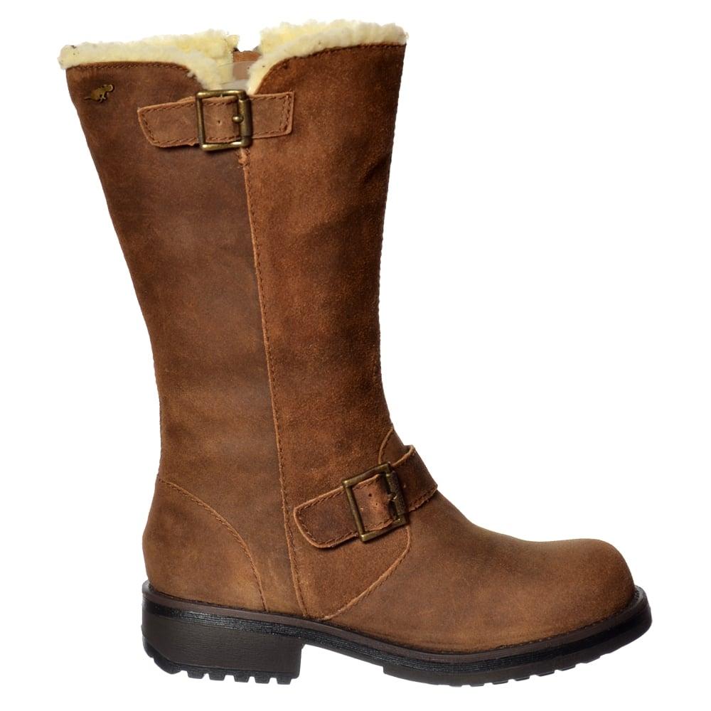 Unique CK Jeans Womenu0026#39;s Helga Studded Biker Ankle Boots - Dark Brown Womens Footwear - FREE UK Delivery