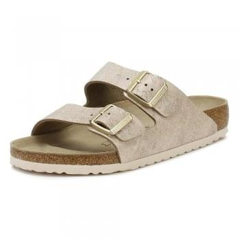 Birkenstock Arizona Suede Leather - VL Washed Metallic - Standard Fitting - Flip Flop Sandal