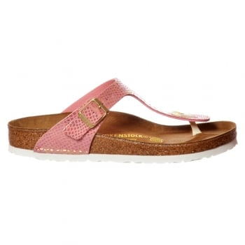Birkenstock Gizeh Shiney Snake BirkoFlor -Standard Fitting Buckled Toe Post Thong Style - Flip Flop Sandal