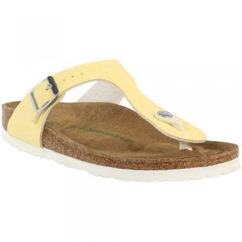 Birkenstock Vegan Gizeh BF Brushed Vanilla Standard Fitting - Sandal