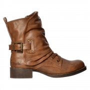 Kaution Winter Ankle Boot - Laces and Wrap Around - Whiskey, Black