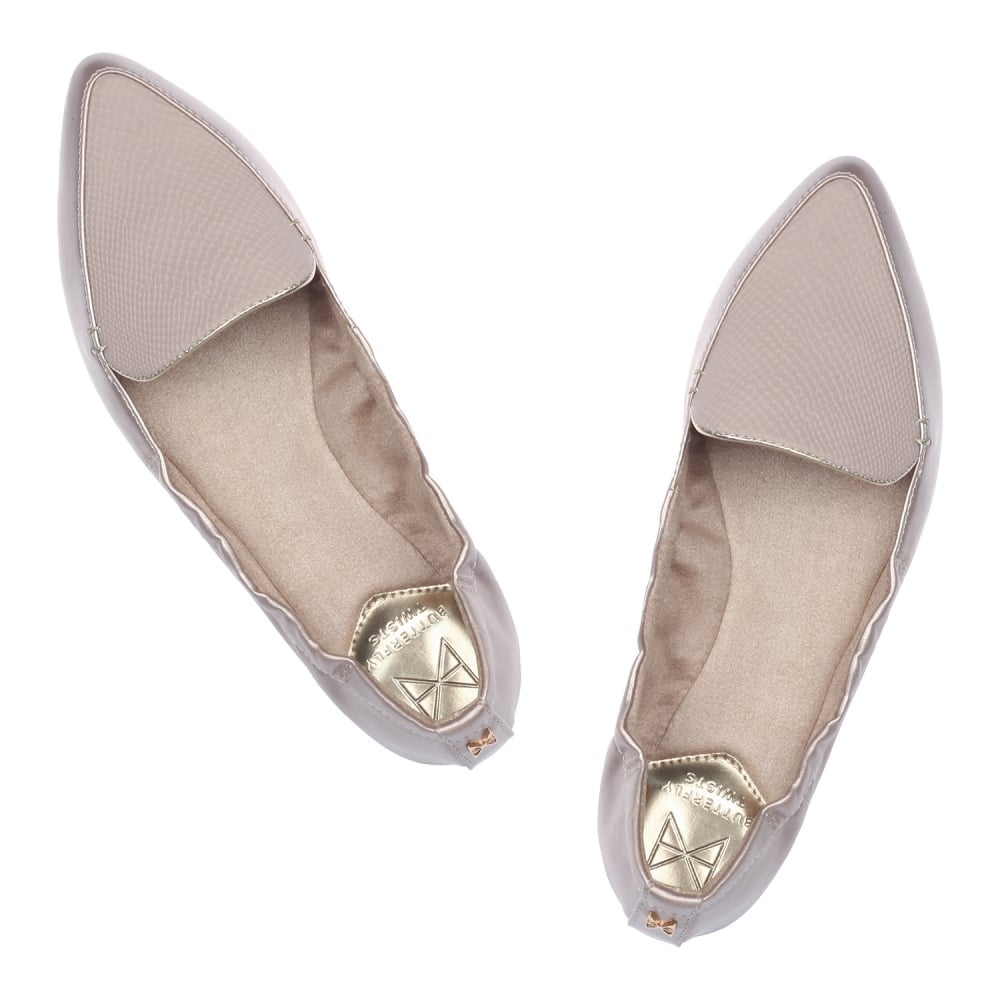 54b7452a389 Butterfly Twists Amber Non Folding Pointed Toe Flat Shoe - Butterfly ...