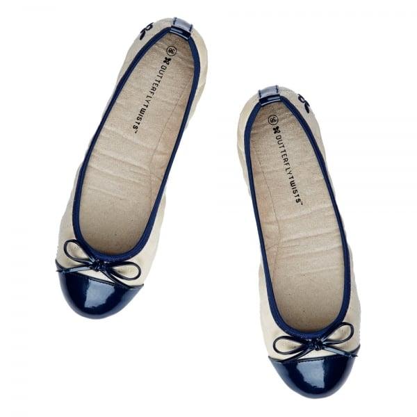 5c3d2579bbe ... Folding Ballerina Pumps - Cream. ‹ View All Butterfly Twists  ‹ ...