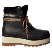 High Hopes Lace Up Ankle Combat Boot - Black, Honey Reset, Whitecap
