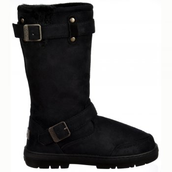 Ella Fur Lined Flat Winter Snow Boot - Biker - Chestnut Brown, Black, Dark Brown, Grey
