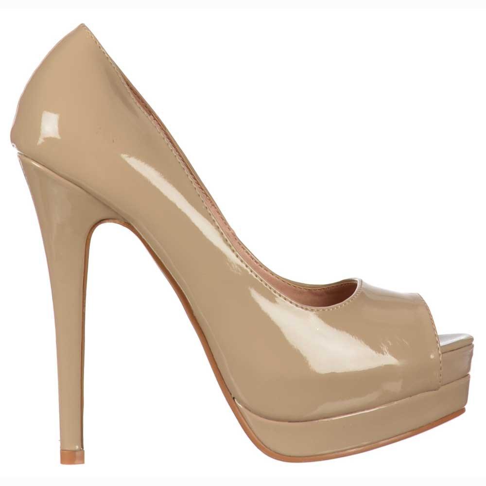 Ella Peep Toe Platform High Heel
