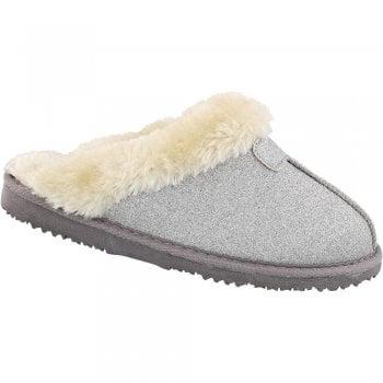 Ella Slip on Faux Fur Trimmed Slipper