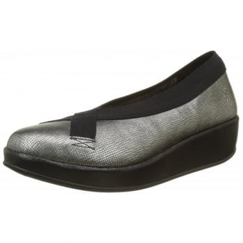 Fly London Bobi Wedge Round Toe Court Shoe - Low Heel Cleated Sole