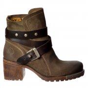 Lok Rug / Oil Suede Ankle Boot - Strap Detail - Sludge / DK Brown, Deep / DK Brown