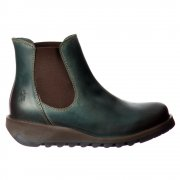 Salv Rug Leather Chelsea Ankle Boot - Low Heel - Camel, Purple, Petrol, Black