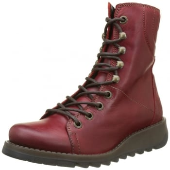 Fly London Same109 Lace Up Leather Military Boot