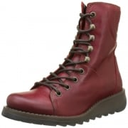 Same109 Lace Up Leather Military Boot