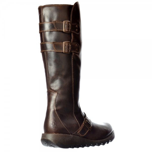 fly solv knee high winter boot low wedge cleated