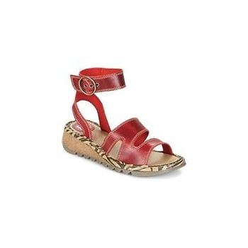 Fly London Tily 722Fly High Ankle Strap Wedge Leather Sandal