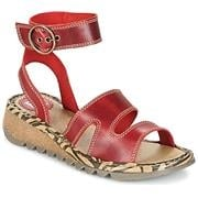Tily 722Fly High Ankle Strap Wedge Leather Sandal