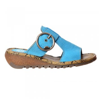 Fly London Tute Wedge Flip Flop - Cleated Sole - Rug Camel, Nobuck Azure, Rug Red, Rug Off White, Rug Black