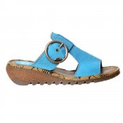 Tute Wedge Flip Flop - Cleated Sole - Rug Camel, Nobuck Azure, Rug Red, Rug Off White, Rug Black
