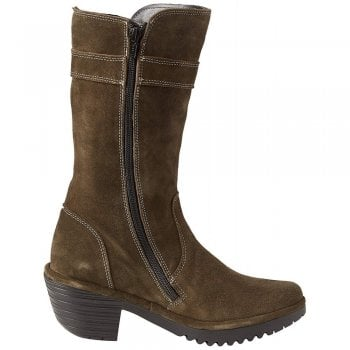 Fly London Woli912 Mid Calf Western Style Boot