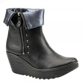 Fly London Yemi902 Leather Studded Ankle Boot