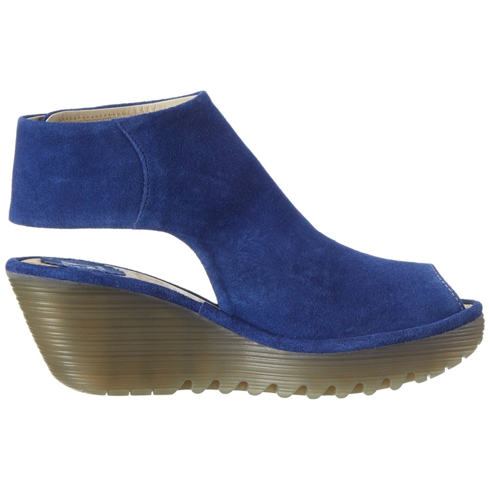 01e8b52e11e Fly London YONE 642 Fly - Pull On Peep Toe Ankle Boot - Suede - Fly ...