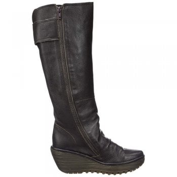 Fly London Yulo668 Tall Extra Wide Calf Leather Boots