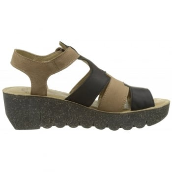 Fly London Yuni188 Open Toe Wedge Leather Sandal
