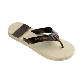 Havaianas Mens Boys Urban Craft Flat Flip Flops - Beige