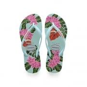 Slim Floral Flat Flip Flop