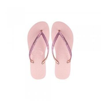 Havaianas Slim Glitter Flat Flip Flops