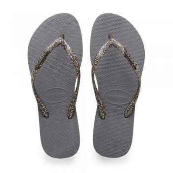 Havaianas Slim Logo Metallic - Flat Flip Flops