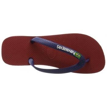 Havaianas Unisex Mens Boys Brasil Logo Flat Flip Flops