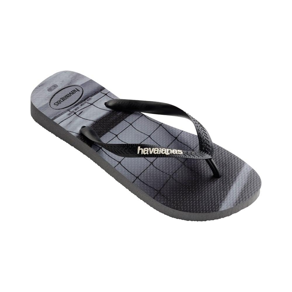 4ebb98d248ca96 Havaianas Unisex Mens Boys Hype Flat Flip Flops - Steel Grey ...