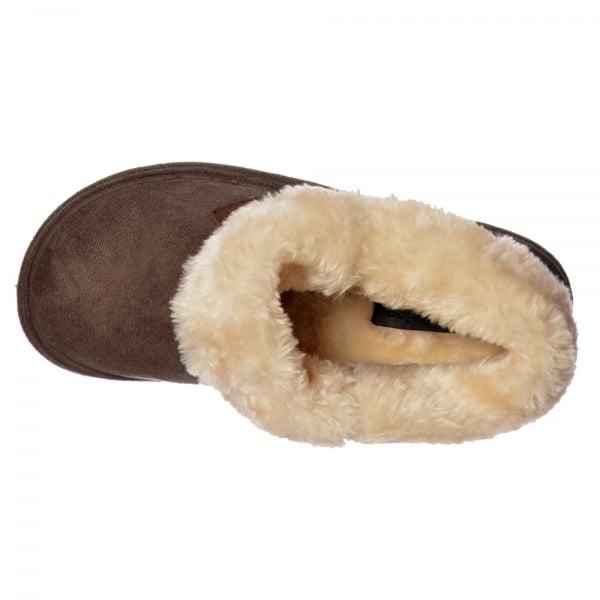 e91175630921 Jo   Joe Chiltern Fur Lined Fur Collar Slipper Boot - Cognac