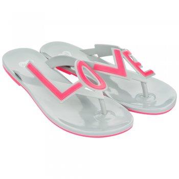 Mel Love City 2 Flat Flip Flop - LOVE - Summer Sandal - Grey / Pink, Pink / Ivory