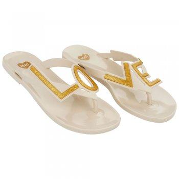 Mel Love City - LOVE -  Flat Flip Flop Summer Sandal - Vanilla