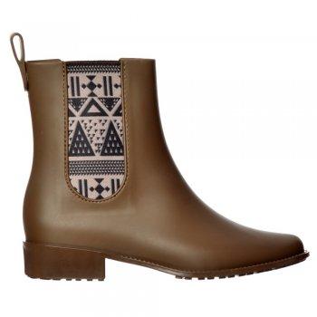 Mel Plum Boot - Chelsea Ankle Boot Festival Wellington - Black, Chocolate