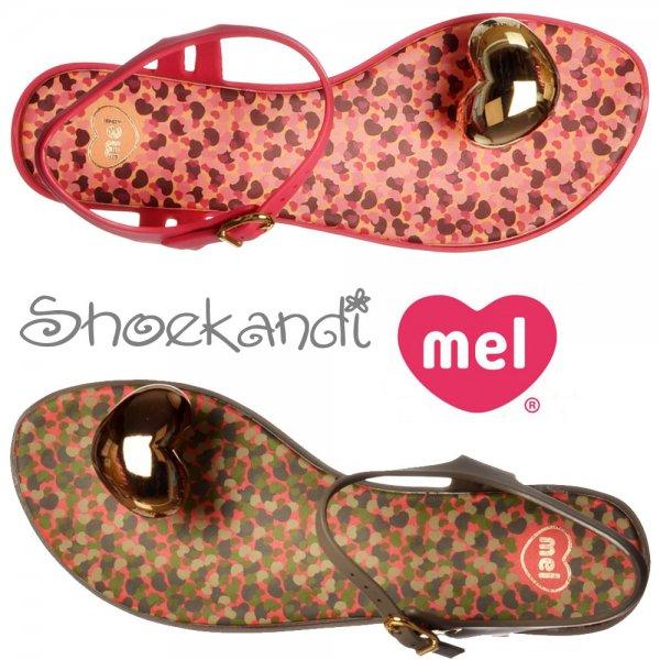 e0b03498941 ... Mel Special - Summer Sandal Flat Jelly - Pink Gold Heart