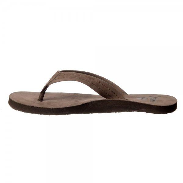 4750cfebc479 Reef Heathwood Flip Flops - Leather Toe Post Sandals - Tobacco ...