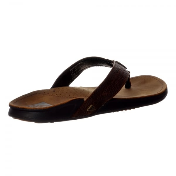 444c84aa3f11 Reef Mens JAY-BAY III Leather Flip Flop - Camel
