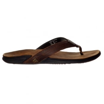 Reef Mens JAY-BAY III Leather Flip Flop - Camel