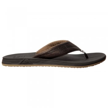 Reef Mens Phantom Le Flat Flip Flop - Brown / Dark Brown, Brown / Tan