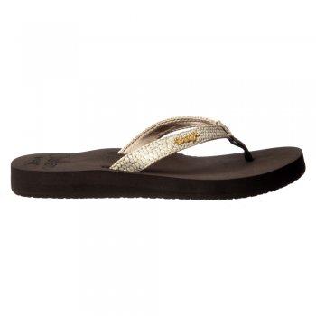 Reef Star Cushion Sassy Flip Flop Sandal - Black/Silver, Brown/White