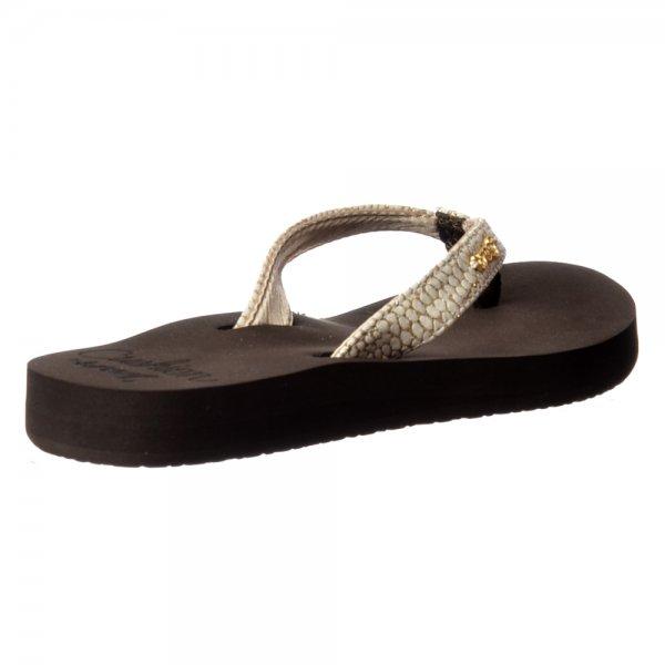 205417618152 Reef Star Cushion Sassy Flip Flop Sandal - Black Silver