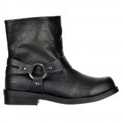 Bang Ankle Biker Boot - Straps - Porter Black