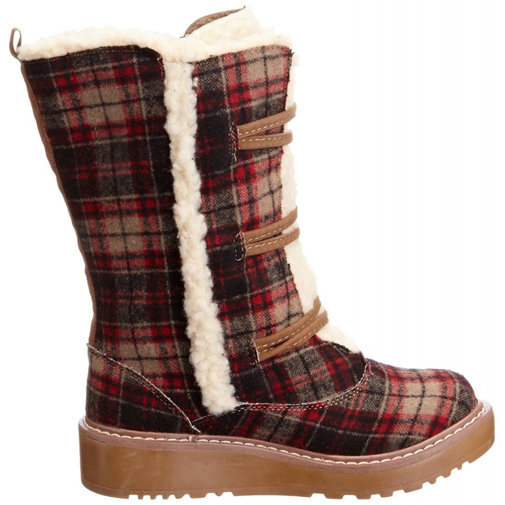 9b8cf9db0 Rocket Dog Blazer Lace Up Warm Lined Winter Boot - Grey, Chestnut, Natural.  ‹