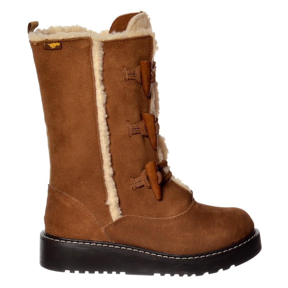 Rocket Dog Blazer Lace Up Warm Lined Winter Boot - Grey