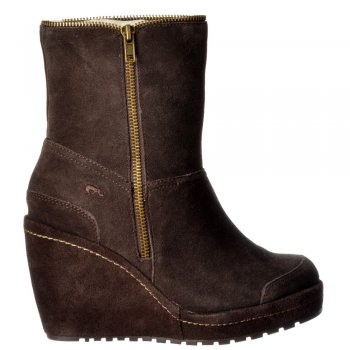 Rocket Dog Boyd Fur Lined Suede Wedge Heel Platform Ankle Boots - Black, Sand, Tribal Brown